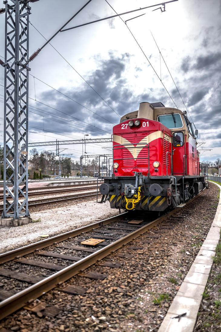 Train locomotive on the station by BIREL