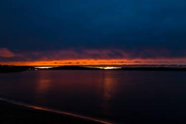Autumn sunset by BIREL