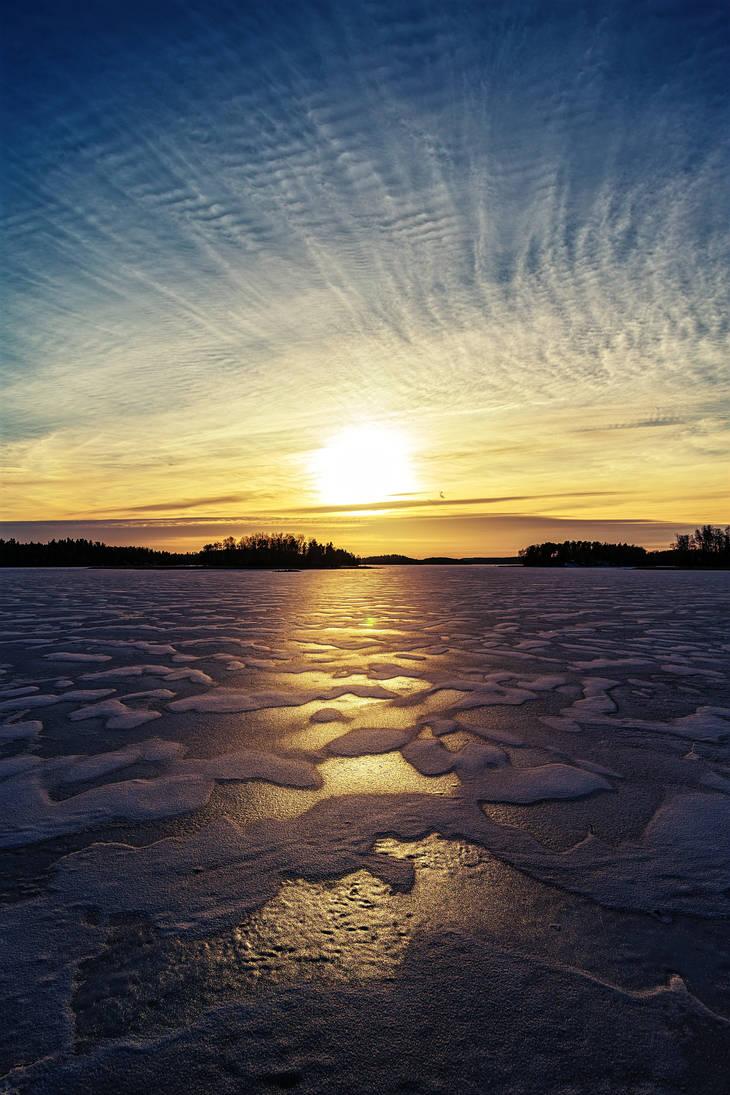 Beautiful sunset by BIREL