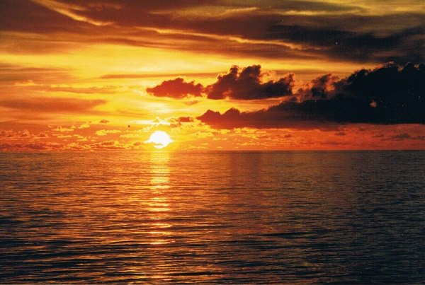 Ocean Sunset by Silver-Tiamat