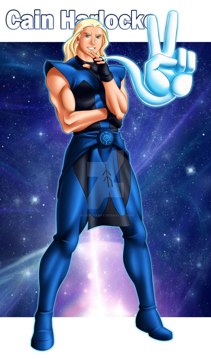 Blue Lantern Cain Harlocke by Silver-Tiamat