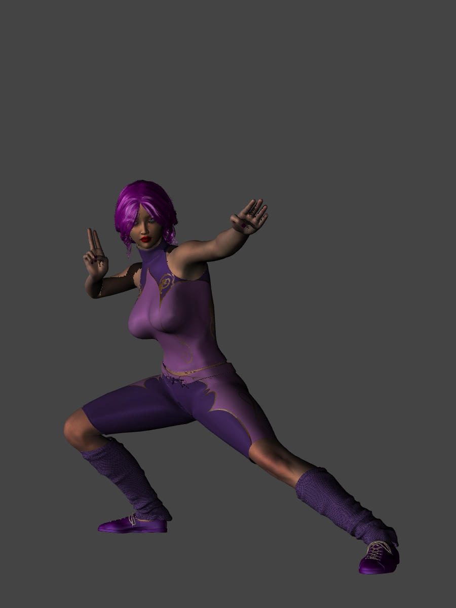 Sumire Fighting Gear by Silver-Tiamat