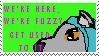 We're Fuzzy stamp by Ferret-X