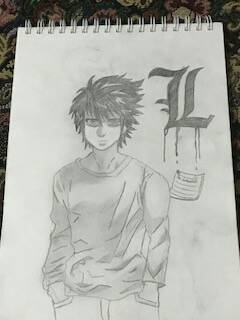 L (From Death Note) by TheDeadpool99