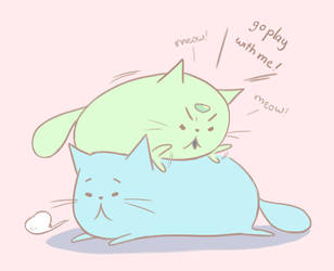 Purricat And Lapussy by vickyvuong95