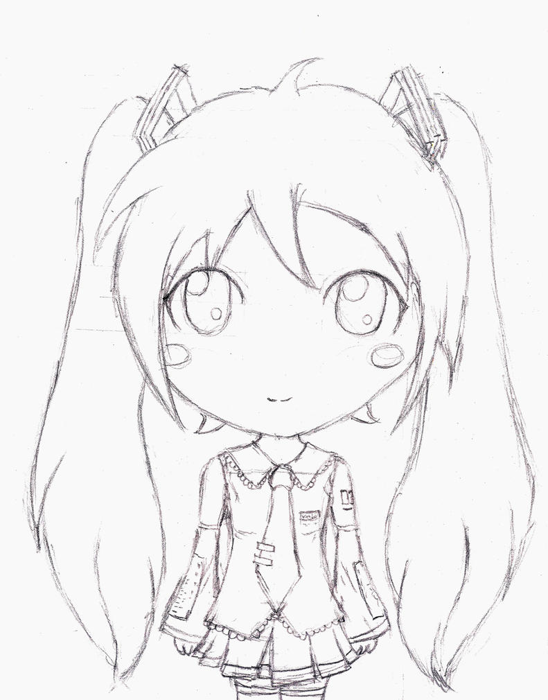 hatsune miku chibi coloring pages - photo#29