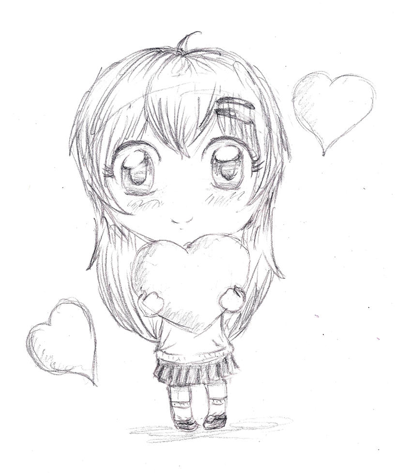 Chibi OC Sketch By Inestd On DeviantArt
