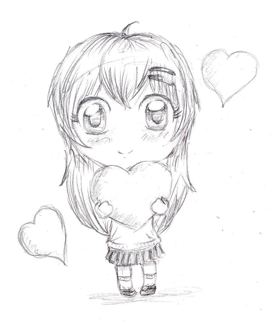 Chibi OC Sketch By Inestd On DeviantArt