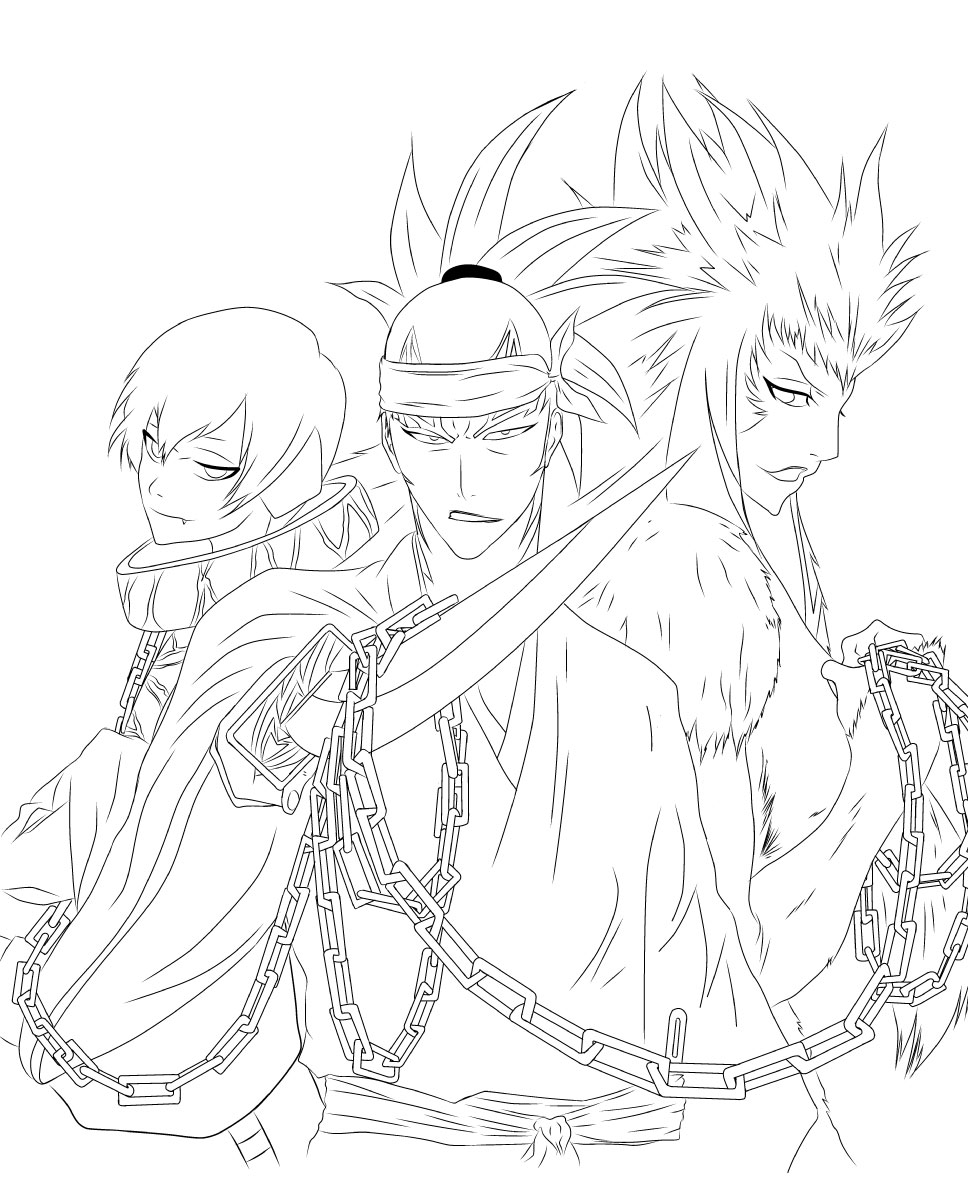 Renji crew by dexstah on deviantart for Bleach color pages