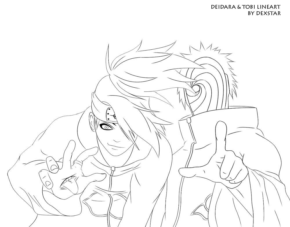 tobi and deidara coloring pages - photo#2