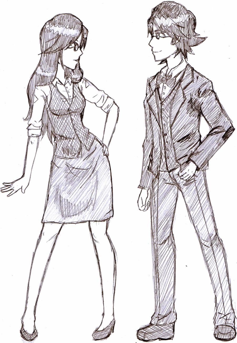 Simone and Simon by kiashone