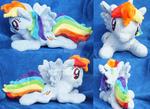 Laying Rainbow Dash Plush