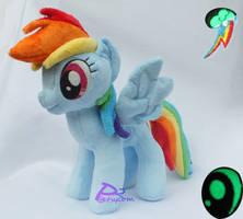 Rainbow Dash V3 Glow-in-the-Dark by kiashone
