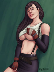 October Patron's Poll: Tifa by d4phnaie