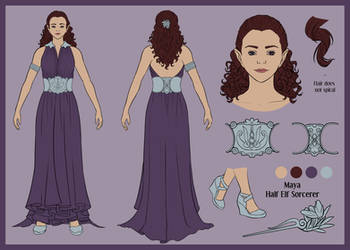 Maya Ref Sheet by d4phnaie