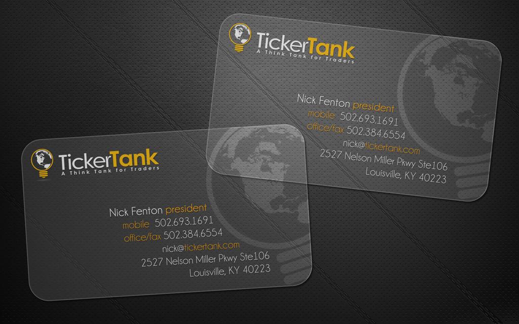 Ticker Tank business cards
