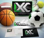 LXC Sports logo + card design