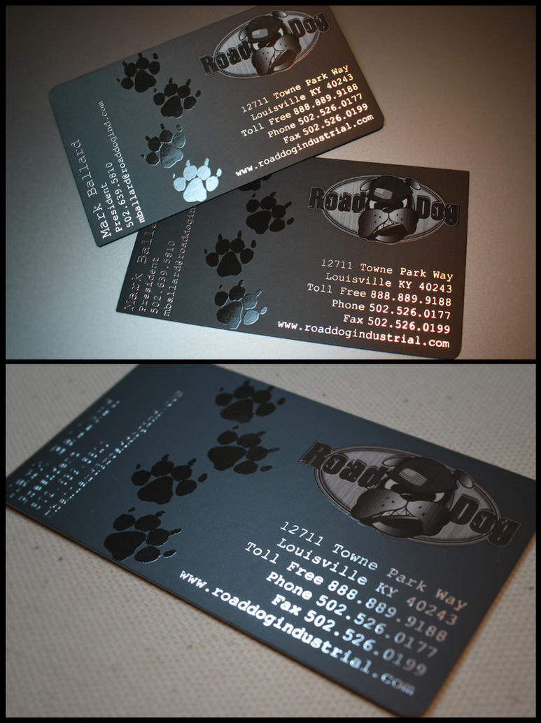 Road Dog business-card design by Stephen-Coelho on DeviantArt