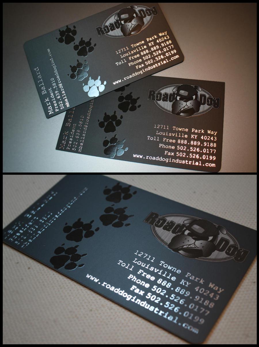 Road Dog business-card design