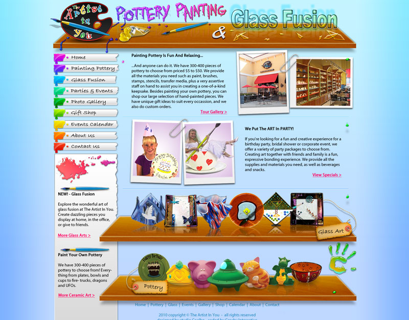 Pottery Studio site design by Stephen-Coelho