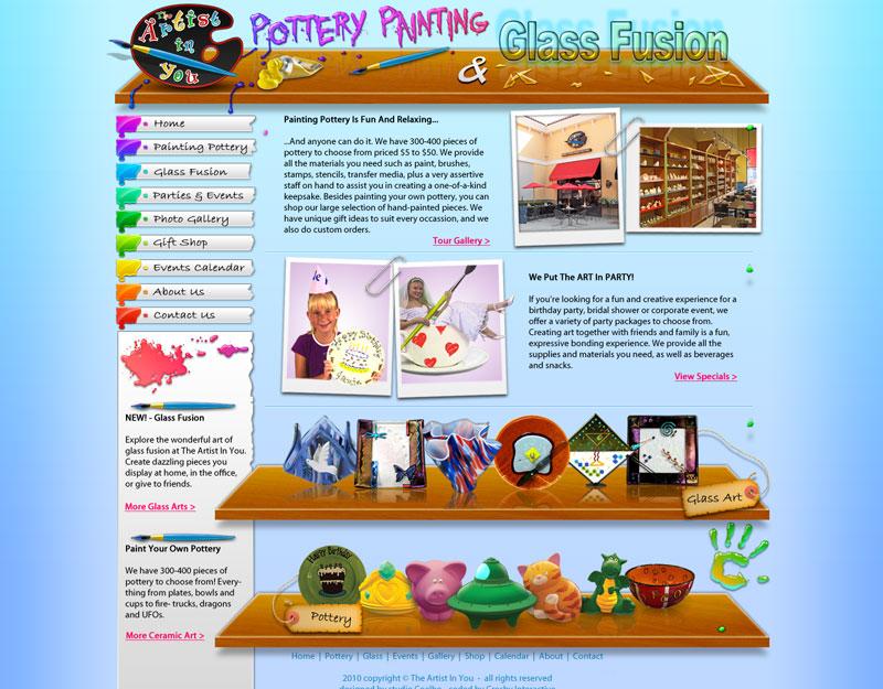 Pottery Studio site design by Stephen-Coelho