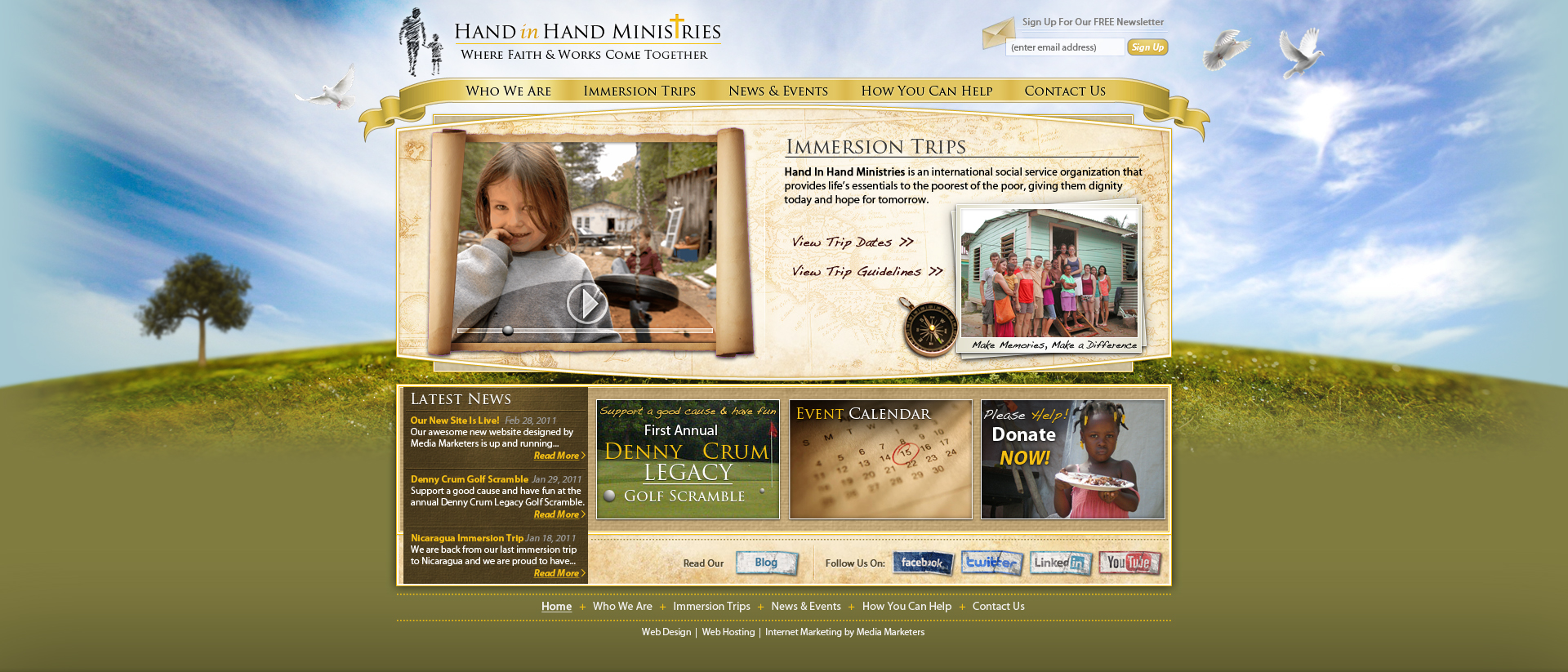Hand In Hand Ministries design by Stephen-Coelho