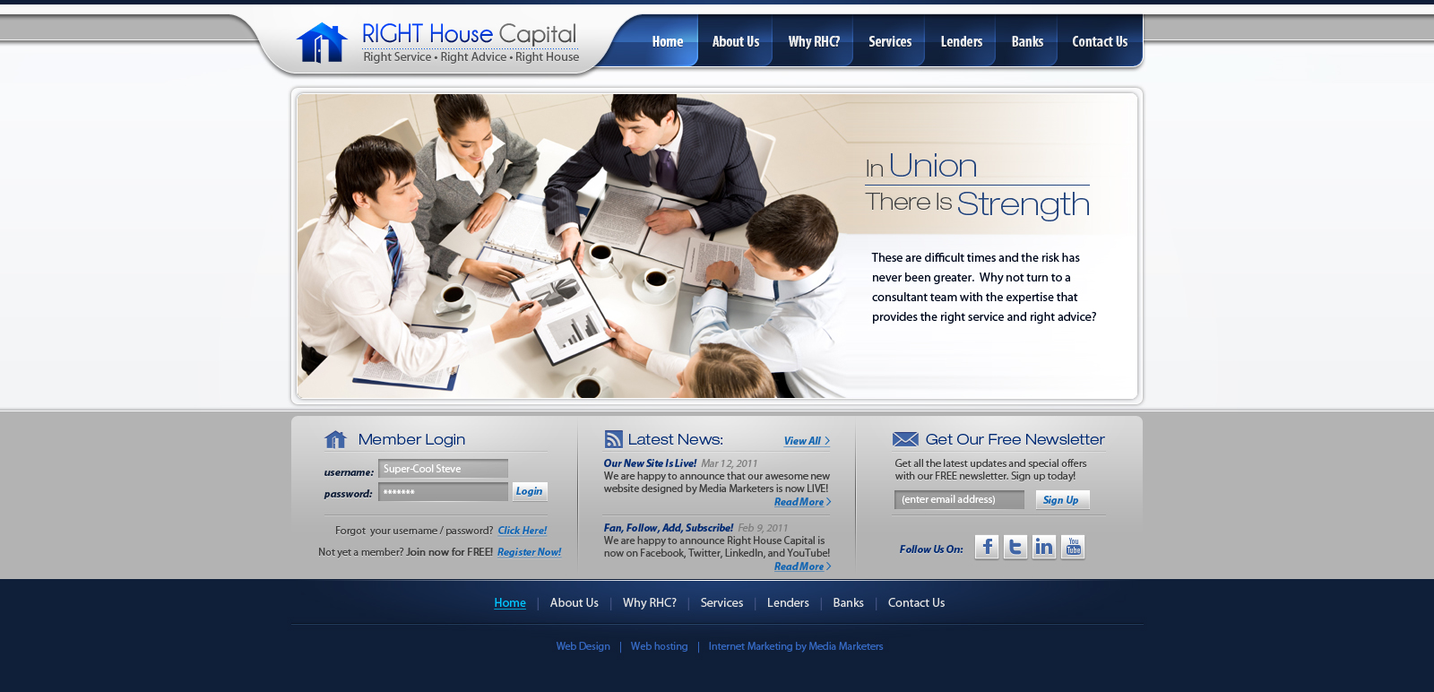 Right House Capital web design by Stephen-Coelho