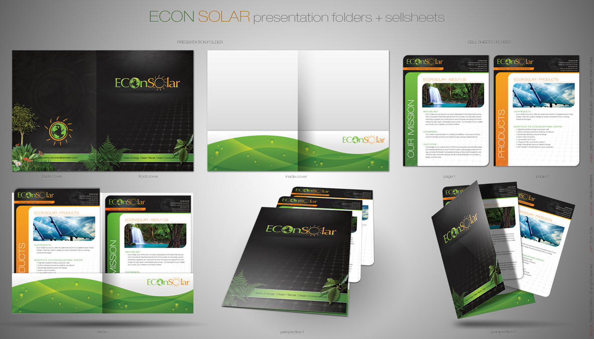 presentation folder + flyersstephen-coelho on deviantart, Presentation templates