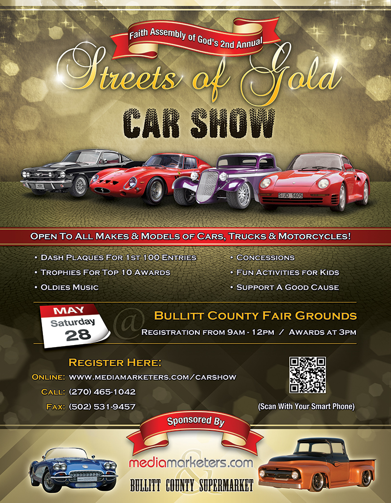 Streets Of Gold Car Show StreetScene - Car show dash plaque template