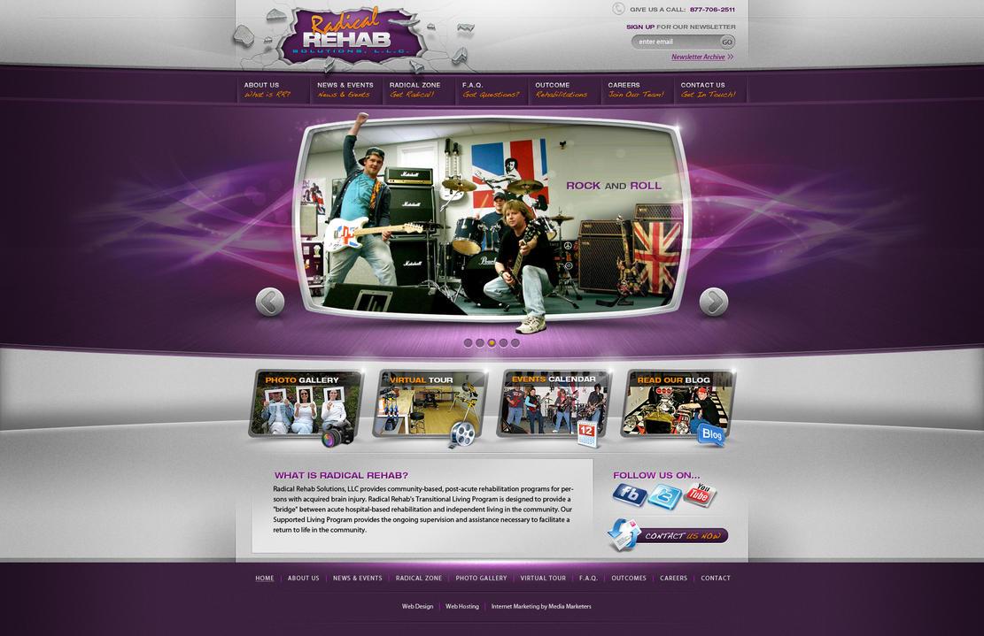 Radical Rehab website design by Stephen-Coelho