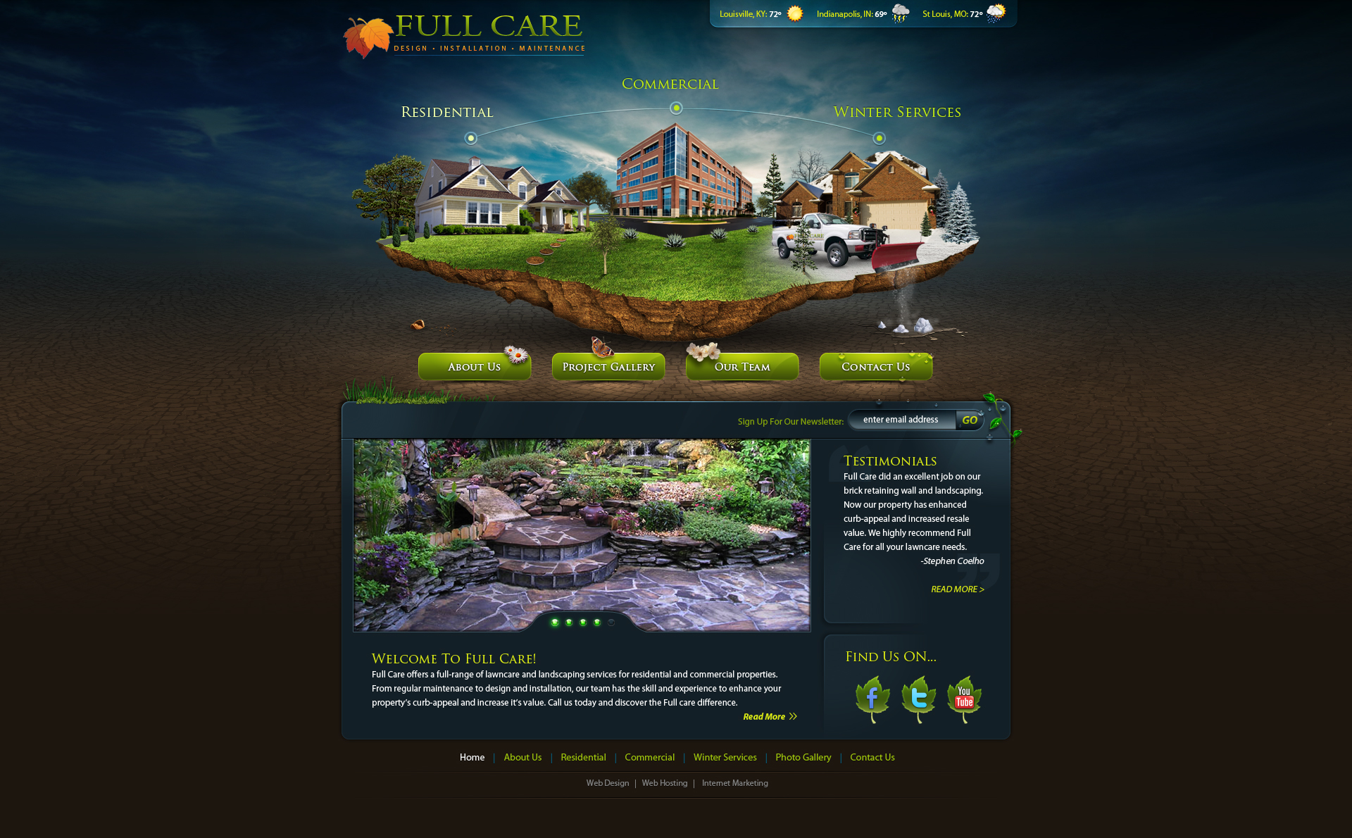 full care lawncare web design by stephen coelho on deviantart