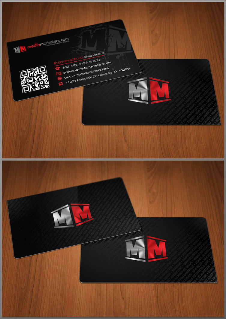 Media Marketers business cards by Stephen-Coelho on DeviantArt