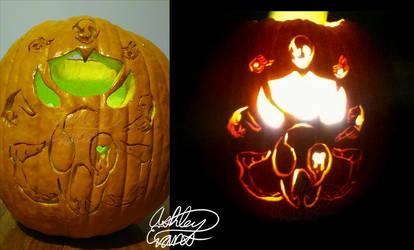 Gaster Pumpkin Carving by Smooth-Criminal-13