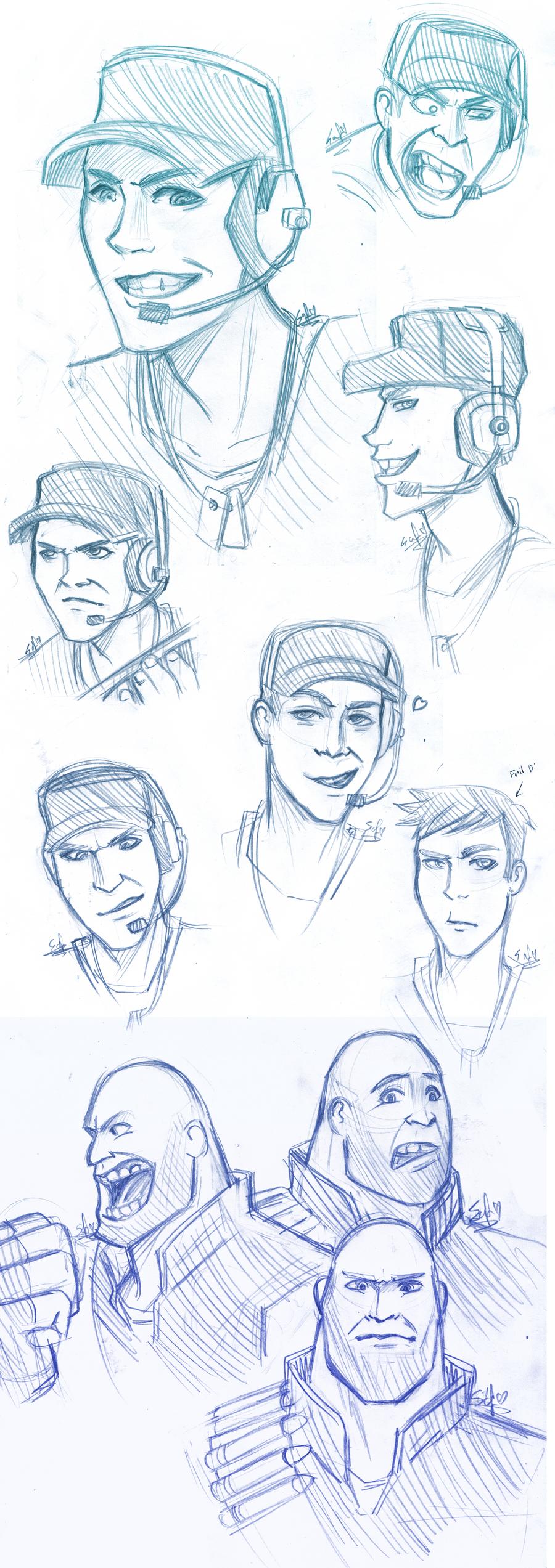 TF2: Sketches by DarkLitria