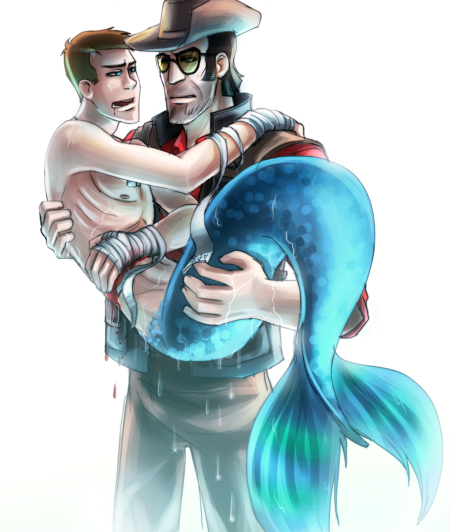 TF2: MermanScout Wounded By DarkLitria On DeviantArt