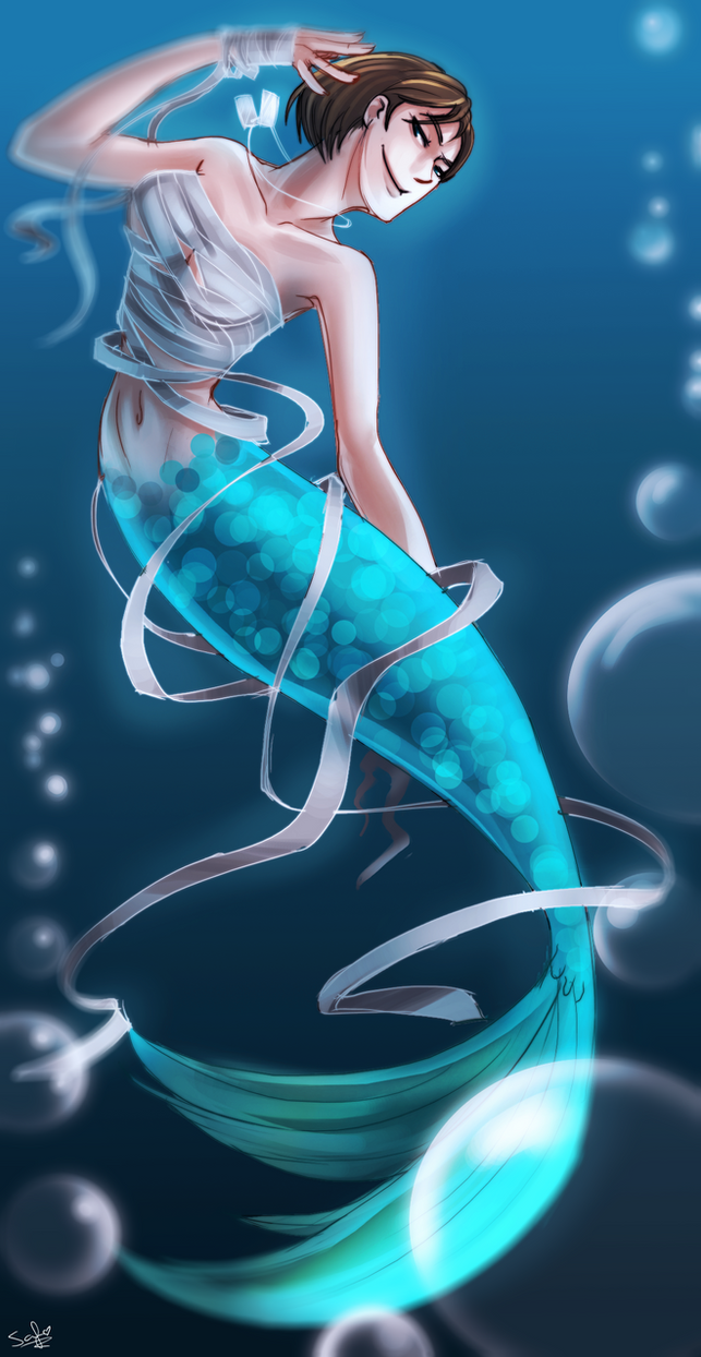 TF2: mermaid femscout by DarkLitria