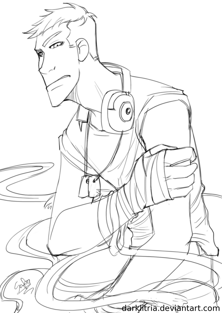 Tf2 scout lineart by darklitria on deviantart for Team fortress 2 coloring pages