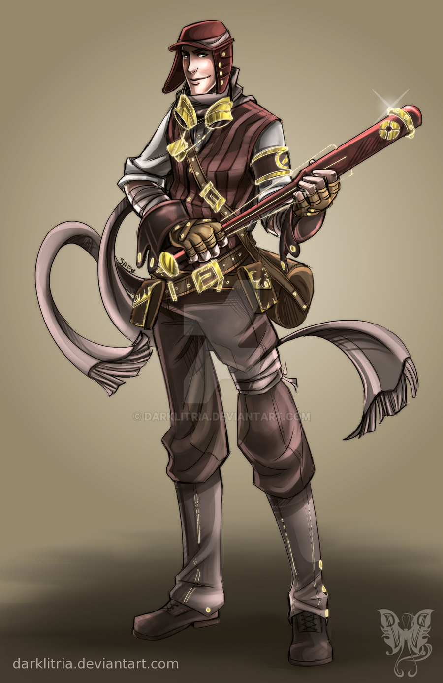 TF2: Steampunk Scout coloured by DarkLitria on DeviantArt
