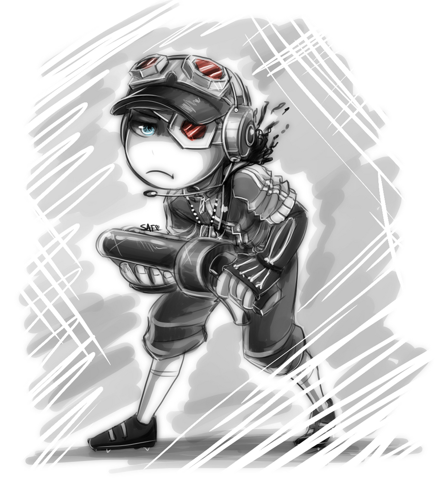 TF2: chibi scout by DarkLitria