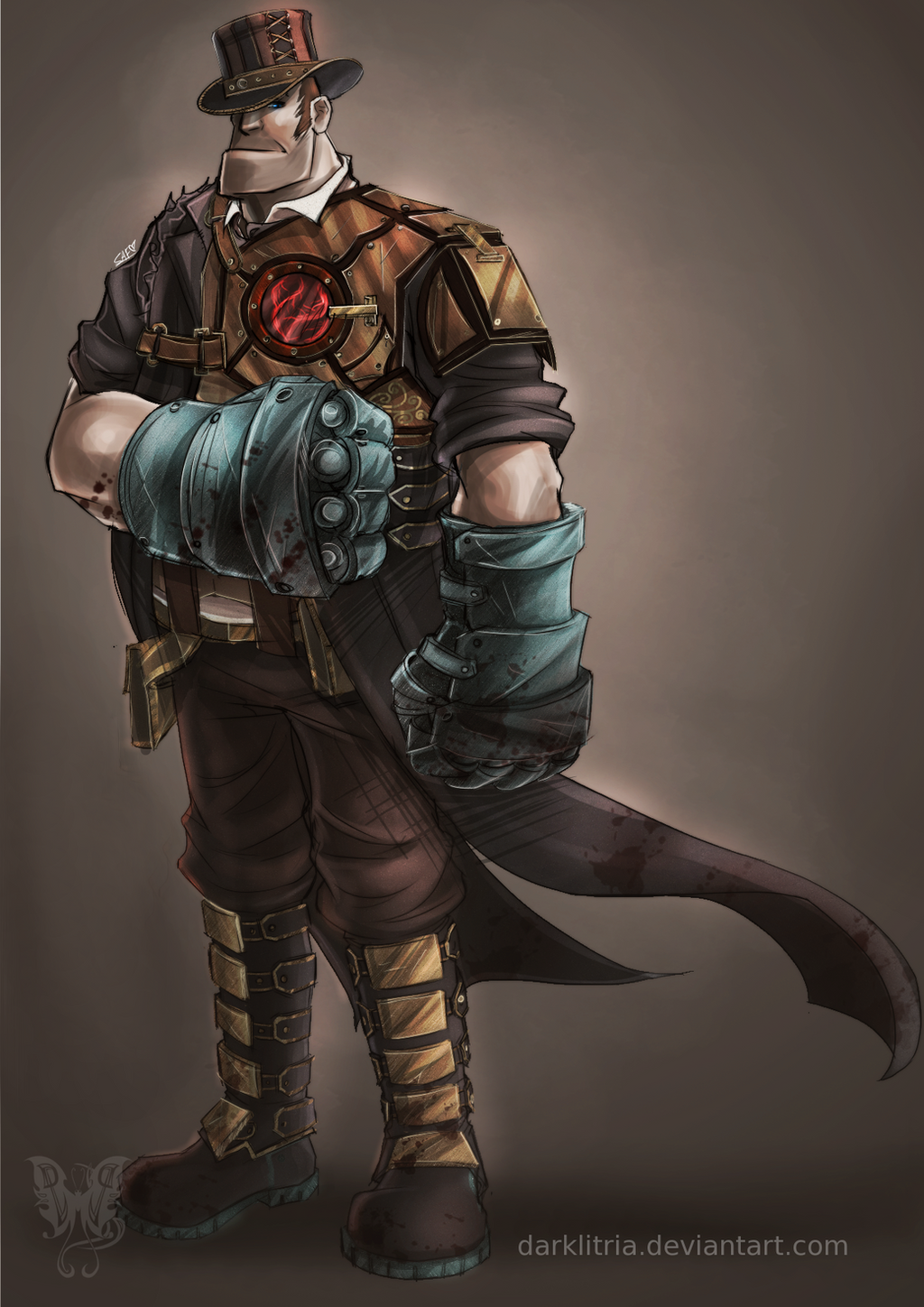 TF2: Steampunk Heavy RE-SUBMIT by DarkLitria