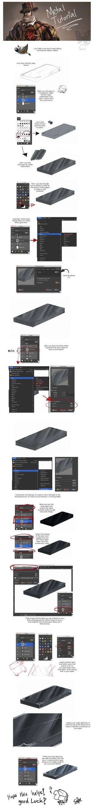 Tutorial: Metal effects in GIMP by DarkLitria
