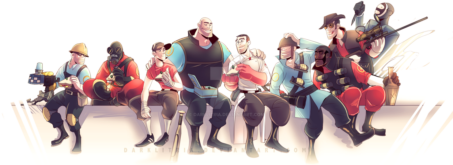 TF2: Lunch Break by DarkLitria