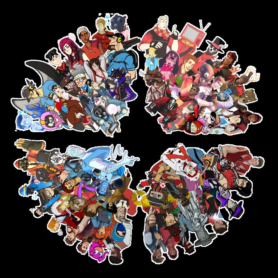 TF2 OCs Collage by DarkLitria