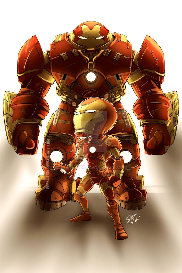 AvengersAOU: Chibi Iron Man + Hulkbuster by DarkLitria