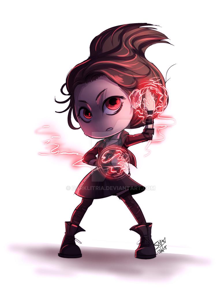Avengersaou Chibi Scarlet Witch By Darklitria On Deviantart