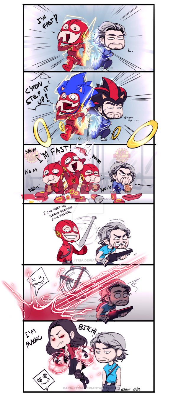 Flash+Quciksilver: I'M FAST! by DarkLitria