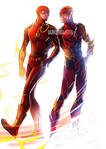 Ezra and Grant as the Flash