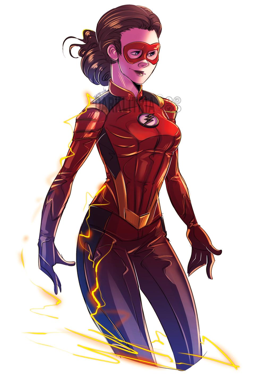 Dc Fan Art : The flash jesse quick by darklitria on deviantart