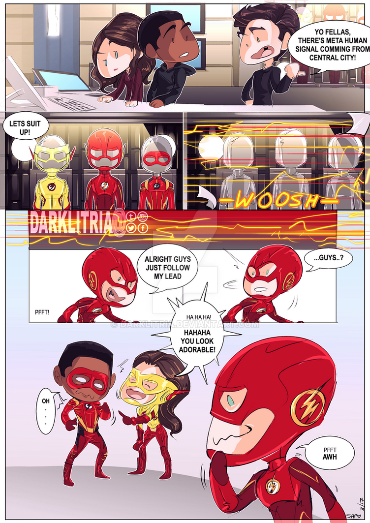 the flash: Suit Up by DarkLitria