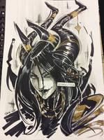 FFXV: Deamon Lady Noct Portrait by DarkLitria